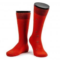 Дизайнерские носки ART OF COLOR red